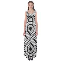 Pattern Tile Seamless Design Empire Waist Maxi Dress