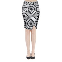 Pattern Tile Seamless Design Midi Wrap Pencil Skirt