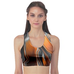 Fractal Structure Mathematic Sports Bra