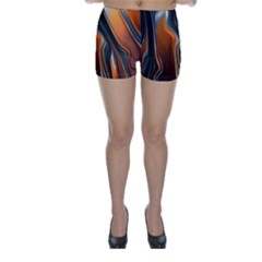 Fractal Structure Mathematic Skinny Shorts