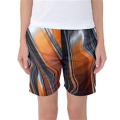 Fractal Structure Mathematic Women s Basketball Shorts