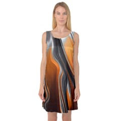 Fractal Structure Mathematic Sleeveless Satin Nightdress