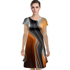 Fractal Structure Mathematic Cap Sleeve Nightdress
