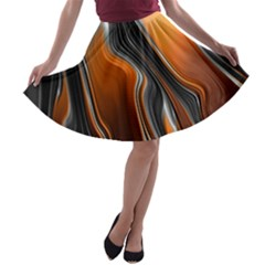 Fractal Structure Mathematic A Line Skater Skirt