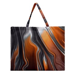 Fractal Structure Mathematic Zipper Large Tote Bag