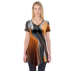 Fractal Structure Mathematic Short Sleeve Tunic