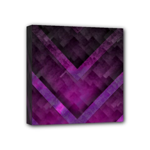 Purple Background Wallpaper Motif Design Mini Canvas 4  X 4