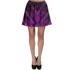 Purple Background Wallpaper Motif Design Skater Skirt
