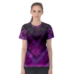 Purple Background Wallpaper Motif Design Women s Sport Mesh Tee
