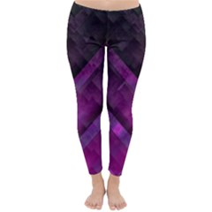Purple Background Wallpaper Motif Design Classic Winter Leggings