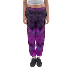 Purple Background Wallpaper Motif Design Women s Jogger Sweatpants