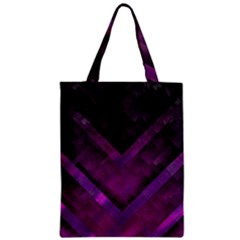 Purple Background Wallpaper Motif Design Zipper Classic Tote Bag