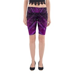 Purple Background Wallpaper Motif Design Yoga Cropped Leggings