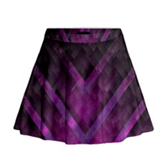 Purple Background Wallpaper Motif Design Mini Flare Skirt