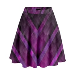 Purple Background Wallpaper Motif Design High Waist Skirt