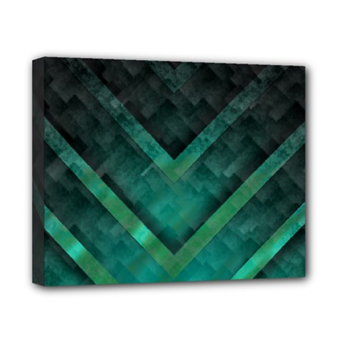 Green Background Wallpaper Motif Design Canvas 10  X 8