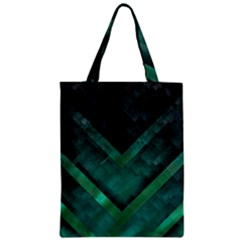 Green Background Wallpaper Motif Design Zipper Classic Tote Bag