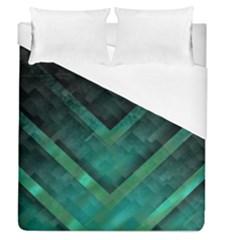 Green Background Wallpaper Motif Design Duvet Cover (queen Size)