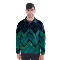 Green Background Wallpaper Motif Design Wind Breaker (men)