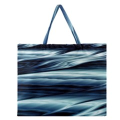 Texture Fractal Frax Hd Mathematics Zipper Large Tote Bag