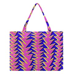 Triangle Pink Blue Medium Tote Bag