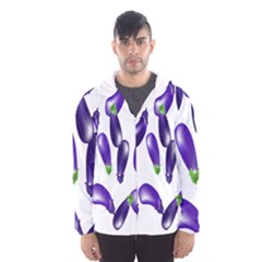 Vegetables Eggplant Purple Hooded Wind Breaker (Men)
