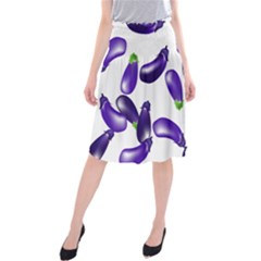 Vegetables Eggplant Purple Midi Beach Skirt