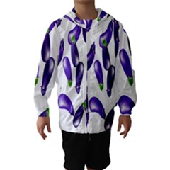 Vegetables Eggplant Purple Hooded Wind Breaker (Kids)