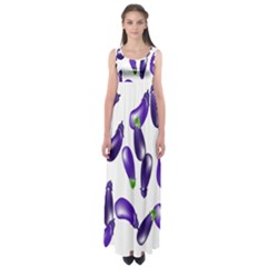 Vegetables Eggplant Purple Empire Waist Maxi Dress