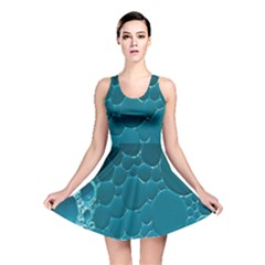 Water Bubble Blue Reversible Skater Dress