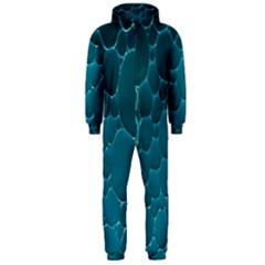 Water Bubble Blue Hooded Jumpsuit (Men)