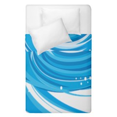 Water Round Blue Duvet Cover Double Side (single Size)