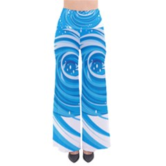 Water Round Blue Pants