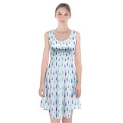 Water Rain Blue Racerback Midi Dress