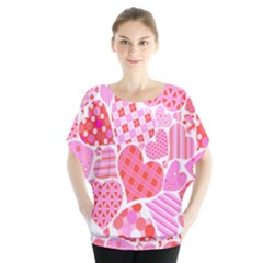Valentines Day Pink Heart Love Blouse