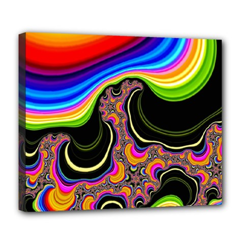 Wave Color Deluxe Canvas 24  x 20