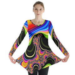 Wave Color Long Sleeve Tunic