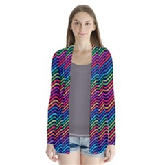 Wave Chevron Rainbow Color Cardigans