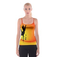 Breakdancer Dancing Orange Spaghetti Strap Top