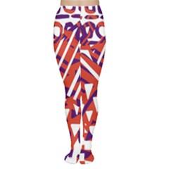 Bright  Memphis Purple Triangle Women s Tights