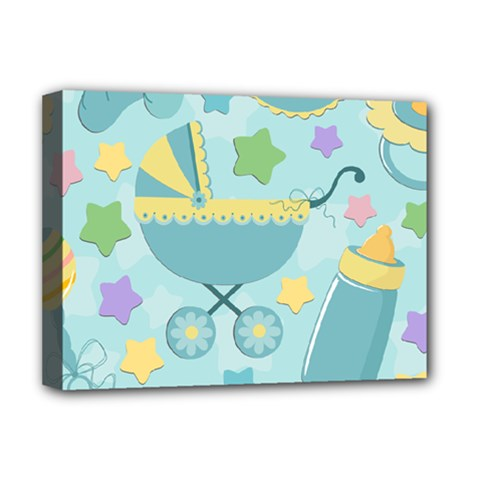 Baby Stroller Star Blue Deluxe Canvas 16  x 12