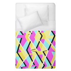 Bright Zig Zag Scribble Yellow Pink Duvet Cover (single Size)