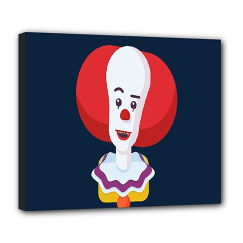 Clown Face Red Yellow Feat Mask Kids Deluxe Canvas 24  x 20