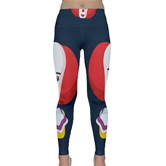 Clown Face Red Yellow Feat Mask Kids Classic Yoga Leggings