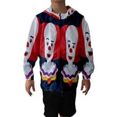 Clown Face Red Yellow Feat Mask Kids Hooded Wind Breaker (Kids)