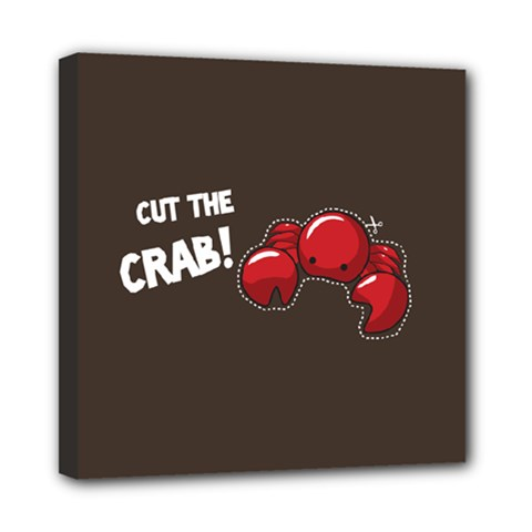 Cutthe Crab Red Brown Animals Beach Sea Mini Canvas 8  X 8