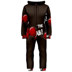Cutthe Crab Red Brown Animals Beach Sea Hooded Jumpsuit (Ladies)