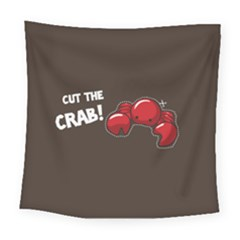 Cutthe Crab Red Brown Animals Beach Sea Square Tapestry (large)