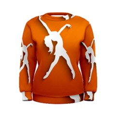Dance Dancing Orange Girl Women s Sweatshirt