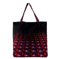 Digital Balls Lights Purple Red Grocery Tote Bag